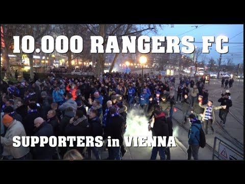 Over 10.000 RANGERS F.C supporters in VIENNA | 13.12.2018 RAPID - RANGERS