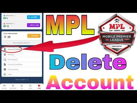 how can i delete my mpl account OK BHAI