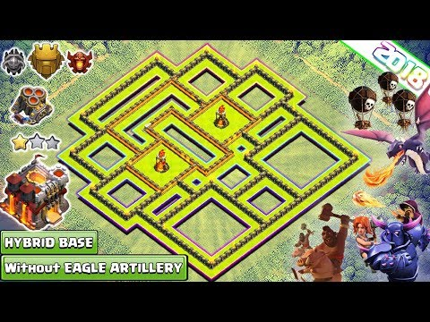 New Th10.75 Strong Defensive Legend Base 2018 | Th11 Hybrid Base Without Eagle Artillery - COC