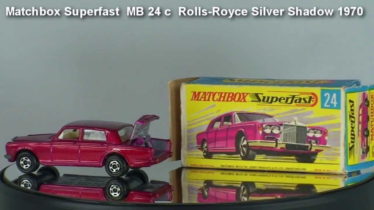 Rolls Royce Silver Shadow Matchbox Superfast Mb 24 C 1970