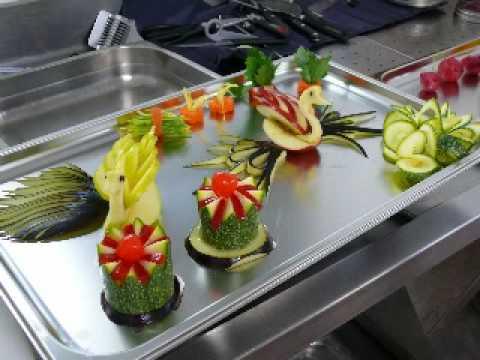 Presentacion de tallados youtube for Decoracion con verduras