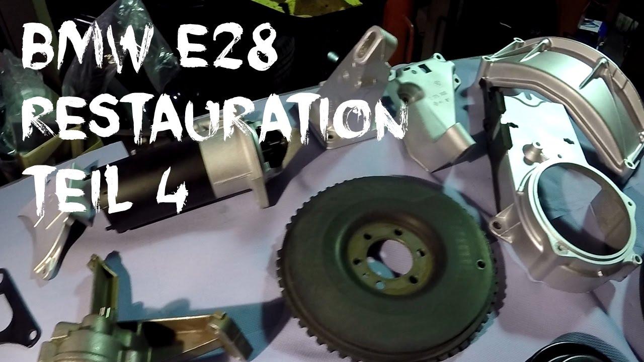 BMW e28 Restauration - Teil 4//Anlasser & Teile (restoration part 4 ...
