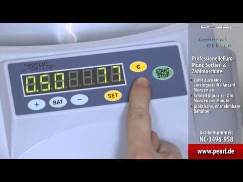 General Office Professionelle Euro-Münz-Sortier- & Zählmaschine