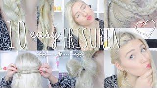 "10 easy ""1-Minute"" FRISUREN ♥ Alltag | Schule | Uni ♥ BibisBeautyPalace Thumbnail"