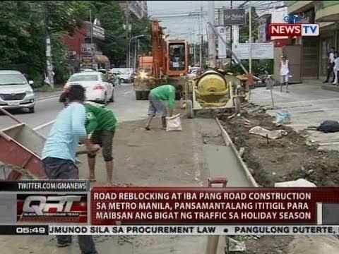 QRT: Road reblocking at iba pang road construction sa Metro Manila, pansamantalang ititigil