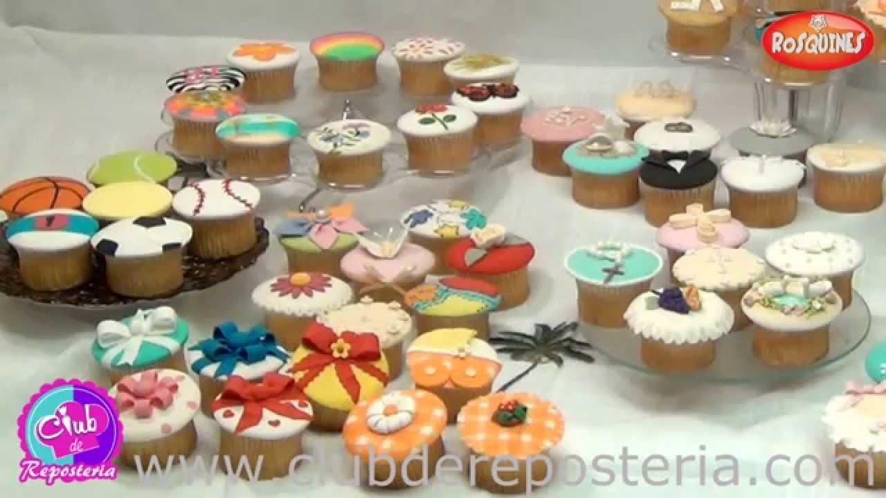 Como decorar cupcakes con fondant youtube for Decoracion en cupcakes