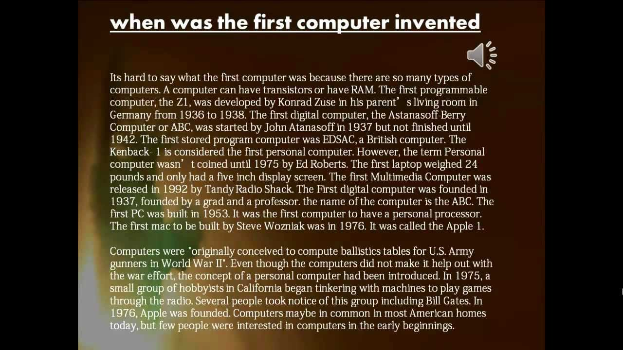 an introduction to the first invented computers since 2000 years ago The history of the xbox and it's hard to believe it's been just over 13 years since bill given the four years between the release of the first xbox.