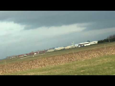Private jet takes off at Columbus Municipal Airport