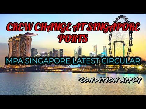 Crew Change at Singapore Ports Started|Latest MPA Singapore Circular|Pradeep Notebook|