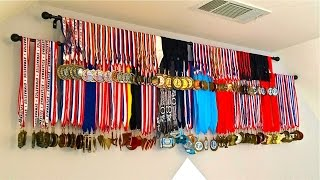 DIY Medals Display, How to Display Medals Inexpensive