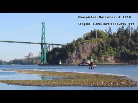 Lions Gate Bridge, Vancouver, Canada: A National Historic Site (HD)
