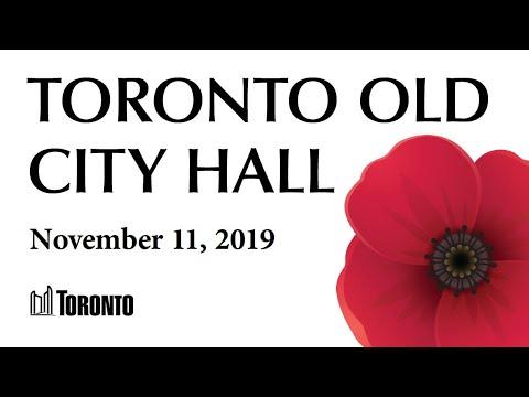 Remembrance Day Service 2019 - Toronto Old City Hall Cenotaph