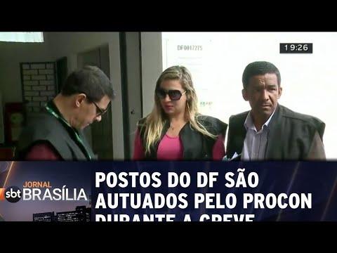 Postos do DF são autuados pelo PROCON durante a greve | Jornal SBT Brasília 25/05/2018