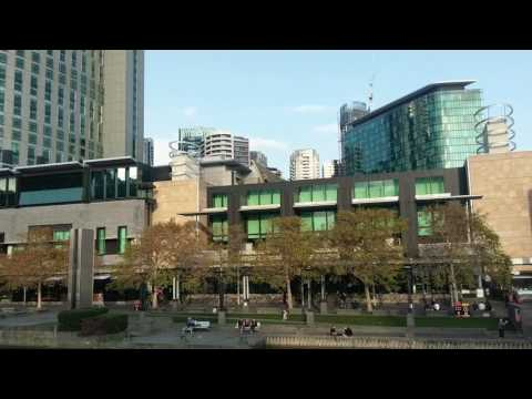 Melbourne CBD, Crown Casino and Yarra River Late Autumn 2017