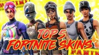 TOP 5 SKINS 😱🔥 PANINI FORTNITE **Trading Cards**