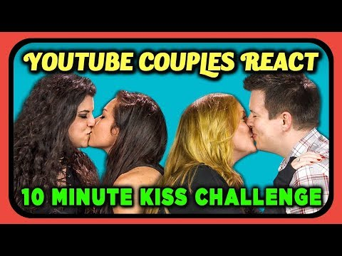 YOUTUBE COUPLES REACT TO 10 MINUTE KISS CHALLENGE (#TenMinuteKissChallenge)