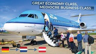 TRIPREPORT | KLM (Economy AND Business) | Bremen - Amsterdam - Vienna | Fokker 70 / Boeing 737