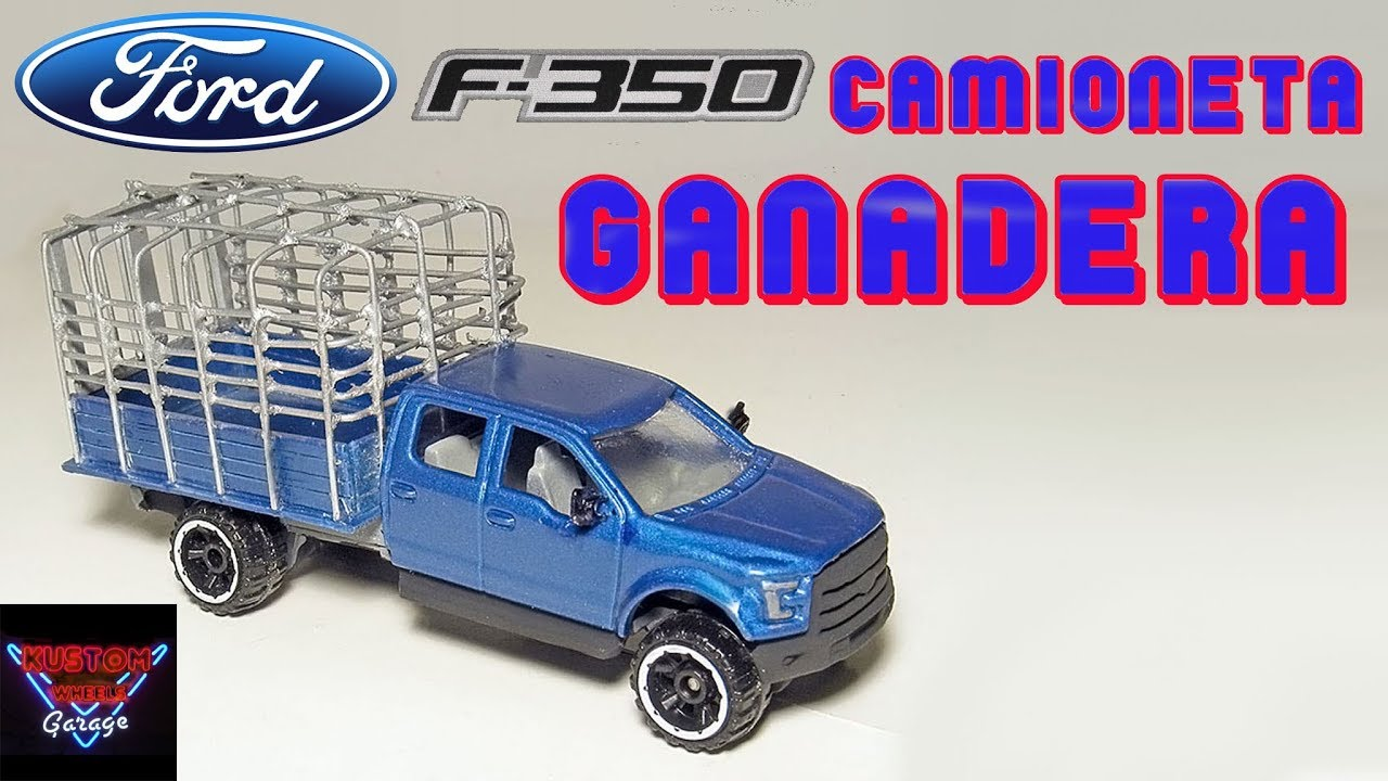 Ford F350 Ganadera Hot Wheels - YouTube