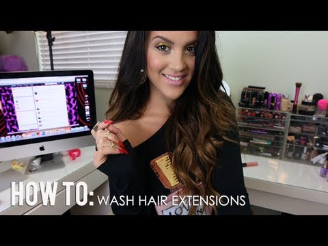 How to wash clip in hair extensions youtube pmusecretfo Gallery
