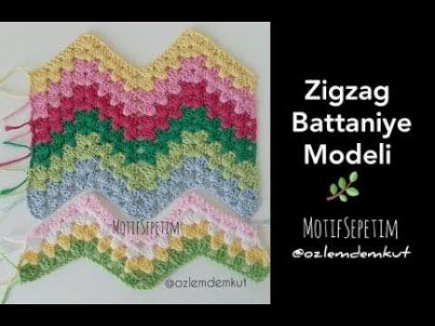 Tığ İşi Zigzag Battaniye Modeli - @ozlemdemkut -  Ripple Crochet