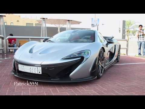 McLaren P1 Team Galag at Cars & Coffee at Burger Fuel Dubai