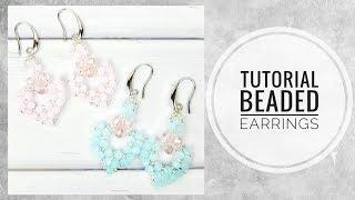 #МК - Серьги из хрусталя и бисера | #Tutorial - Crystal and bead earrings