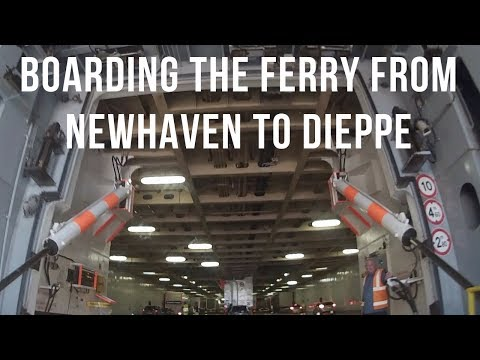 Boarding the ferry to Dieppe at Newhaven Ferry Port