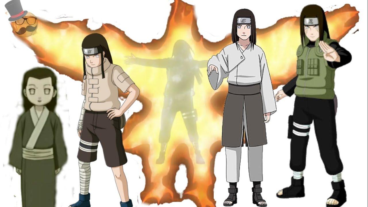 Naruto characters: Huyga Neji's Evolution - YouTube