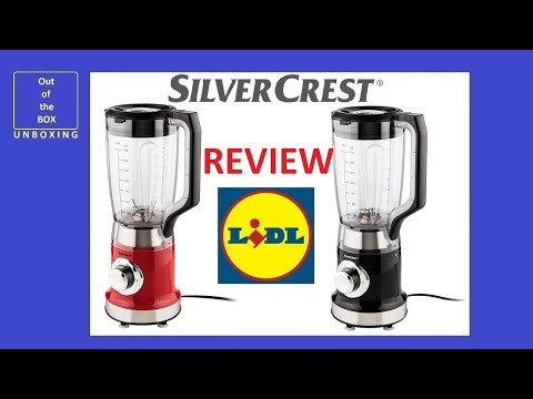 SilverCrest Blender SSDMD 600 A2 REVIEW (Lidl 600W 5 speed 250 ml 1750 ml)