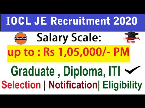 IOCL Recruitment 2020 Salary Up To 1,05,000/- Per Month