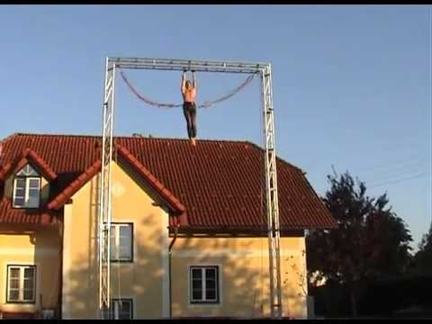 Performing Jumps 8 Meters With A Homemade Bungee