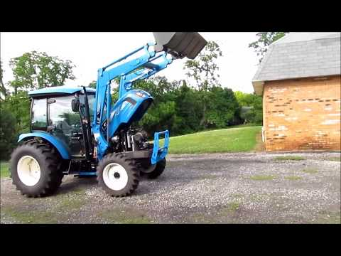 Moving a Concrete Slab with an LS Tractor XR3135C by