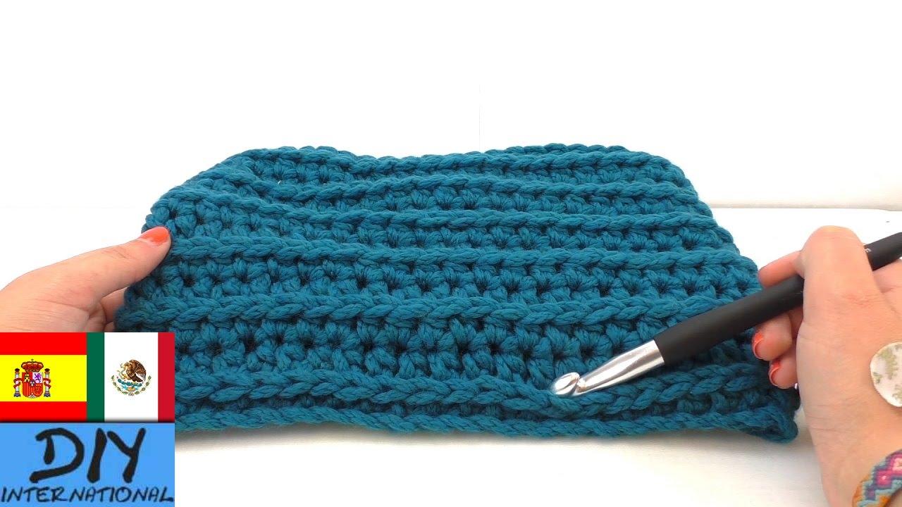 Bufanda con patrón en relieve - DIY Cómo hacer bufanda - Paso a paso ...