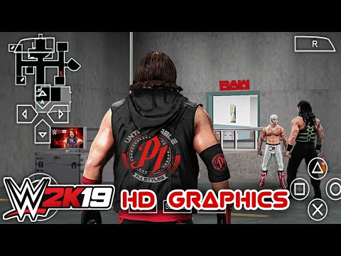 Top 5 WWE 2k19 Psp Mod For Android HD Graphics 🔥