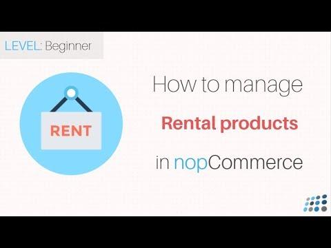 nopCommerce. Managing rental products