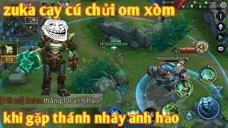 Liên Quân Mobile _ Đụng Thánh Troll Baldum Zuka Team Bạn Cay Cú Phát Khóc   Chửi Om Xòm Max Hài