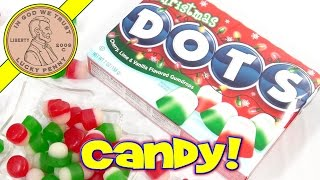 Christmas DOTS - Cherry, Lime & Vanilla Flavored Gumdrops, Soft and Chewy!