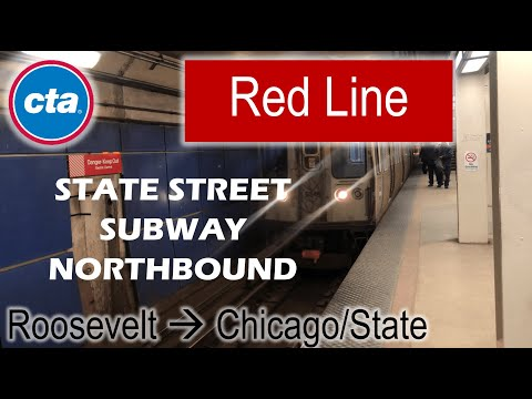Let's Ride the Rail - CTA Red Line from Roosevelt to Chicago/State