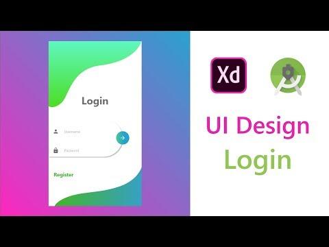 Simple Login UI Design XD To Android Studio XML Tutorial | Redesign Of Satwik Pachino