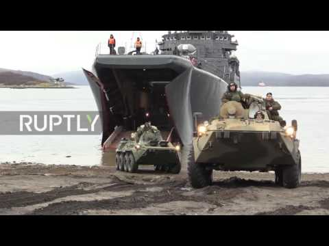 Russia: Northern Fleet's Arctic expedition conducts final drill on return voyage