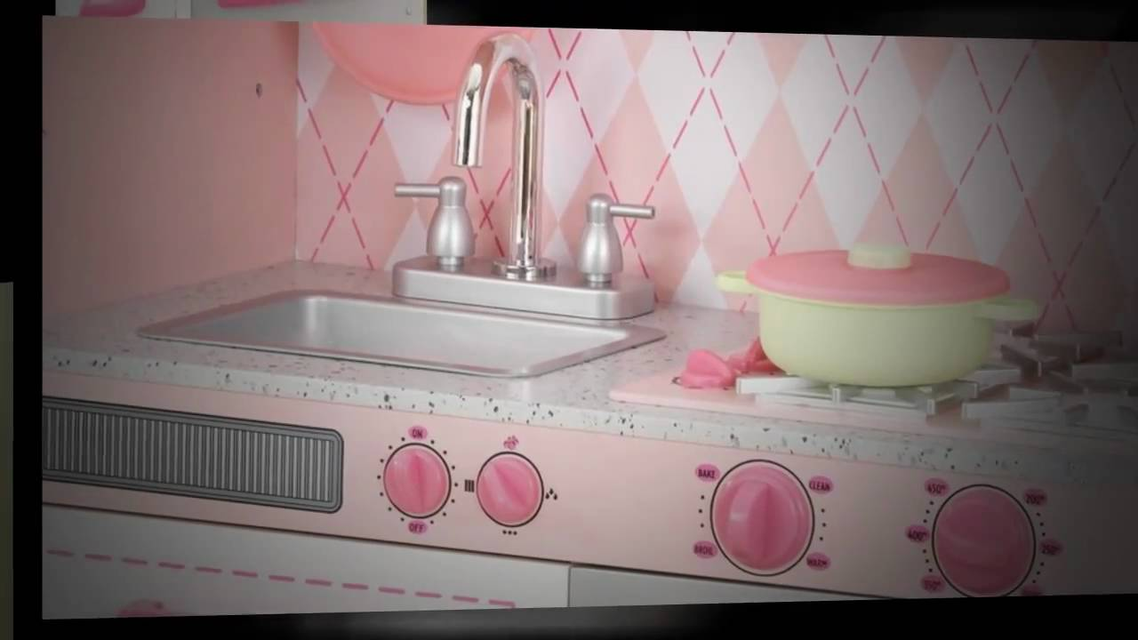 KidKraft Pink Argyle Kitchen 53224