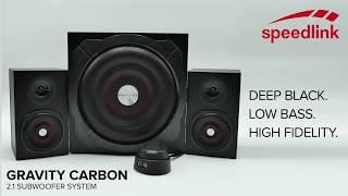 GRAVITY CARBON 2.1 Subwoofer System - Low Bass. High Fidelity. (DE)