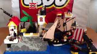 Lego Vintage Pirate Set 6277 Imperial Solider Red Coat Trading Post / Port Royal FOJ