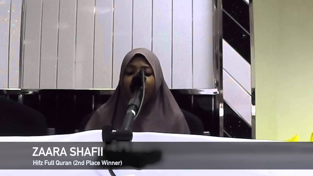 10 year old girl is Birmingham Quran Competion 2016 Hifz Second Place Winner
