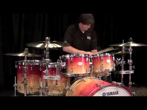 Yamaha PHX Phoenix Drum Set 22/10/12/14/16 - Burled Ash Garnet Fade Gloss
