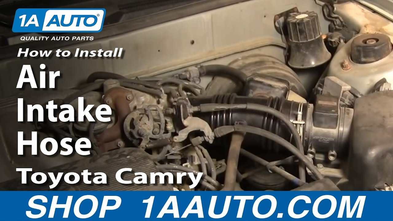 how to install replace air intake hose toyota camry lexus es300 3 0l rh youtube com