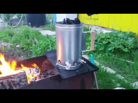 Ковш-ведро для угля, дров и золы. Своими руками! - YouTube