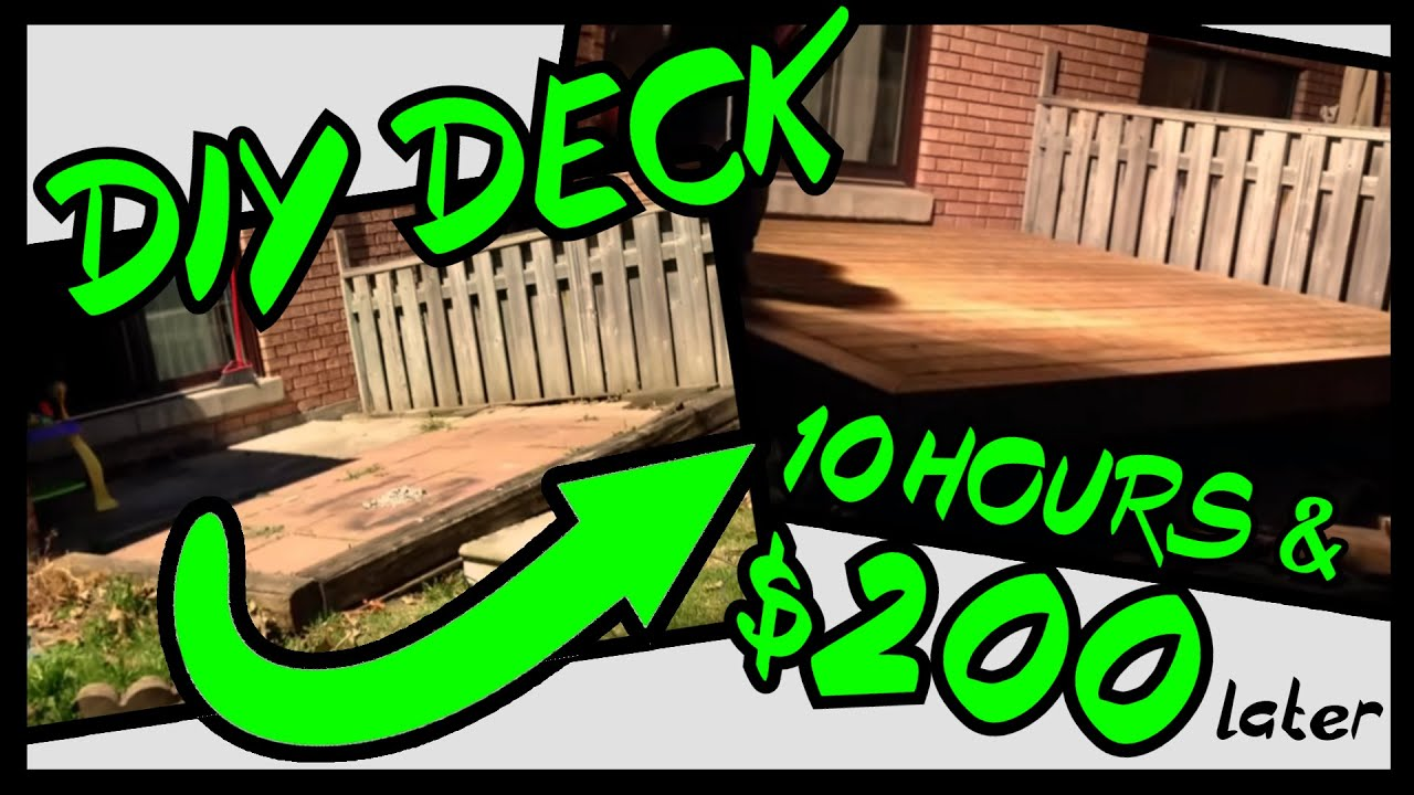 10 by 10 DIY deck build - timelapse of my son and I ...