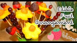 DIY Dollar Tree: How to make an Edible Fruit Bouquet Arrangement | Mother's Day Gift Idea