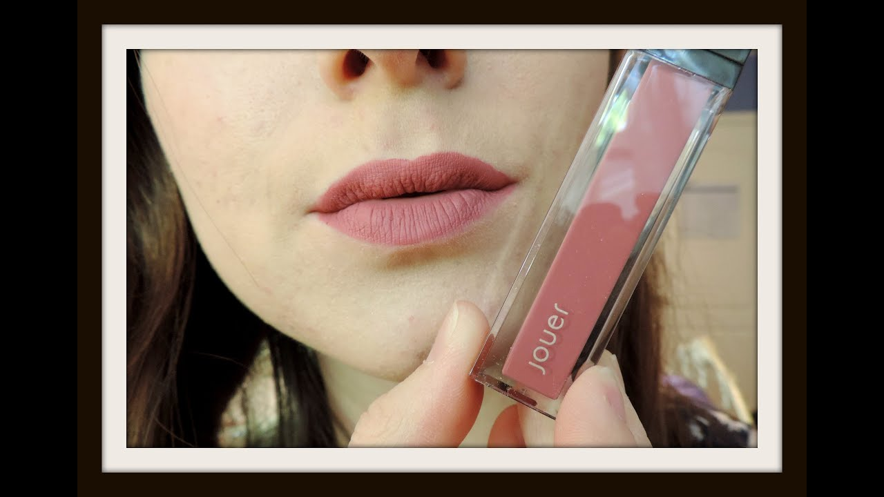 jouer long wear lip creme petale de rose demo review dupes youtube